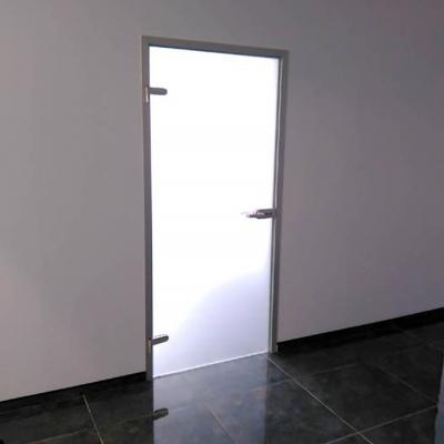 Дверь в алюминиевой коробке