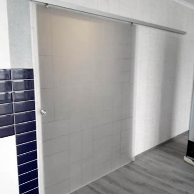 Раздвижная дверь с художественным матированием