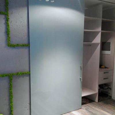 Крашеная стеклянная раздвижная дверь в гардероб