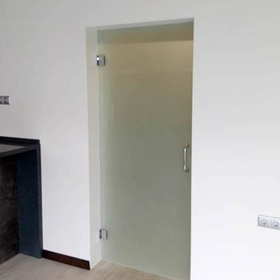 Стеклянные матовые двери в предбанник