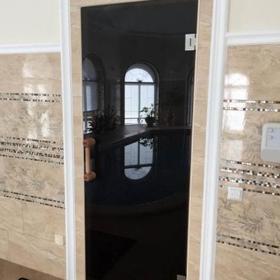 Тонированные стеклянные двери в санузел