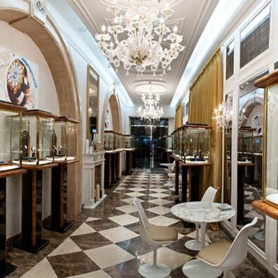 Торговые стеклянные витрины для ювелирного бутика