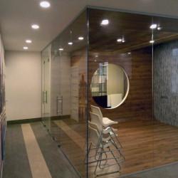 Перегородка из стекла,стеклянная перегородка,стеклянная перегородка с распашной дверью,светопрозрачная стеклянная перегородка