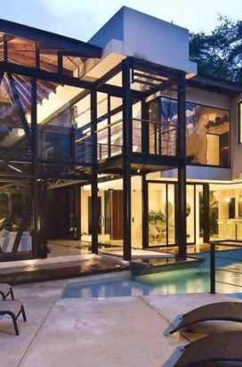 Современный стиль дизайна коттеджей и загородных домов
