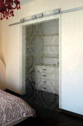 Двустворчатые стеклянные двери