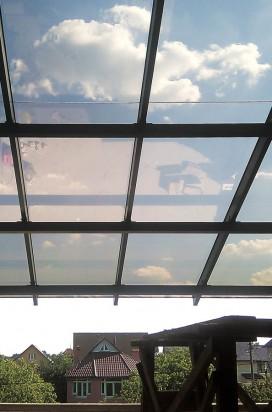 Остекление фрагмента крыши террасы