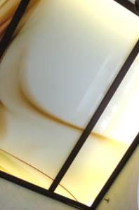 стеклянный потолок с росписью
