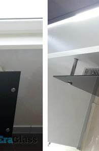 Стеклянное ограждение радиатора