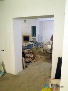 проем под двери,монтаж стеклянных дверей,подготовка проема под двери