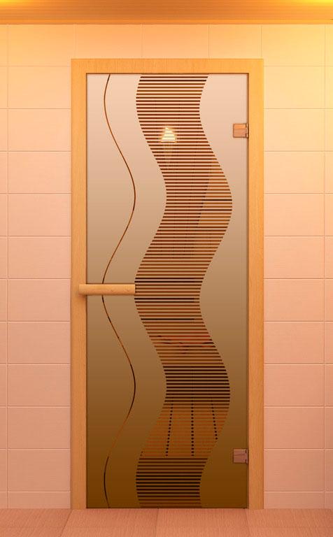 оформление дверей в сауну