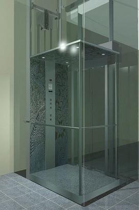 Лифтовая шахта из стекла