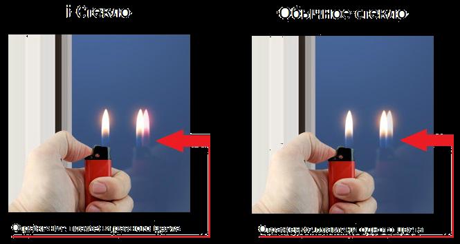 как определить энергосберегающее стекло вместо обычного