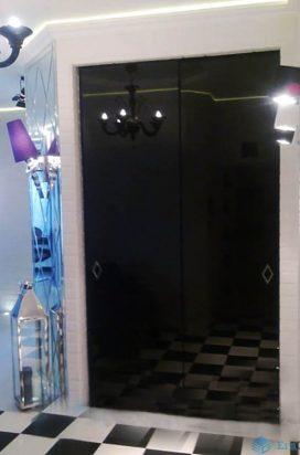 Раздвижные двери с графитового стекла