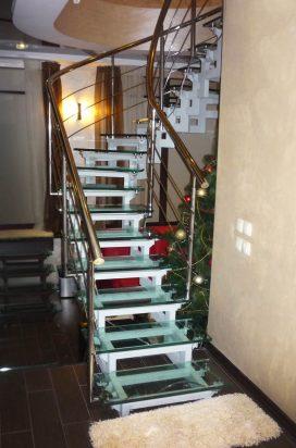 Ограждение лестницы из нержавеющей стали