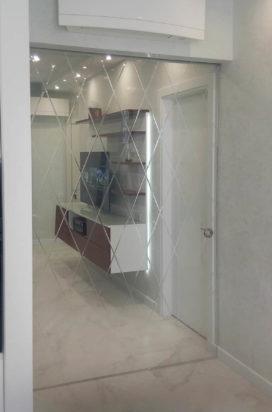 Межкомнатные раздвижные стеклянные двери